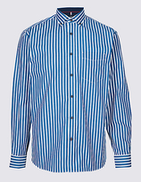 Blue Harbour Luxury Pure Cotton Striped Shirt