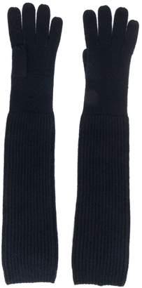 N.Peal long ribbed gloves