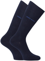 Boss Two Pack Navy Cotton Socks