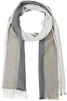 Barneys New York MEN'S STRIPED GAUZE SCARF