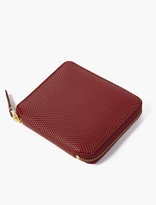 Comme Des Garcons Wallet Burgundy Leather Luxury Wallet