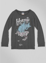 Junk Food Clothing Kids Girls Horton Hears A Who Sweater-jtblk-s