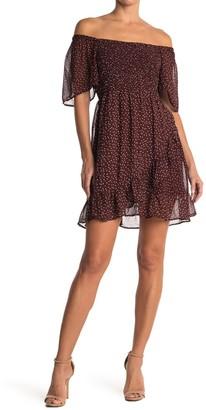 Angie Smocked Bodice Short Sleeve Ruffled Dress