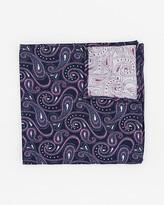Le Château Paisley Print Silk Pocket Square
