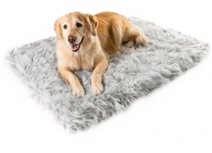 Paw Brands PupRug Faux Fur Orthopedic Dog Bed Rectangle Giant