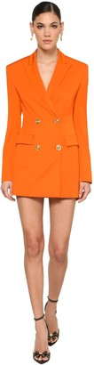 Versace Stretch Wool Blend Gabardine Mini Dress