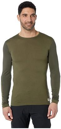 Fjallraven Keb Wool T-Shirt Long Sleeve (Laurel Green/Deep Forest) Men's T Shirt