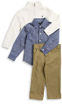 Nautica Boys 2-7 Patterned Sportshirt, Sweater and Chinos Set