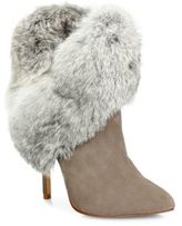 Schutz Henriette Suede & Rabbit Fur Booties
