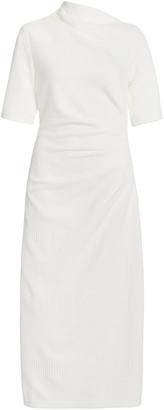 Acler Parkfield Draped Crepe Midi Dress