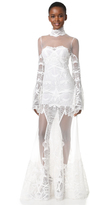 Jonathan Simkhai Flare Sleeve Lace Gown