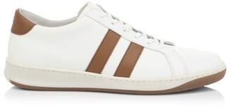 Eleventy Two-Stripe Leather Sneakers
