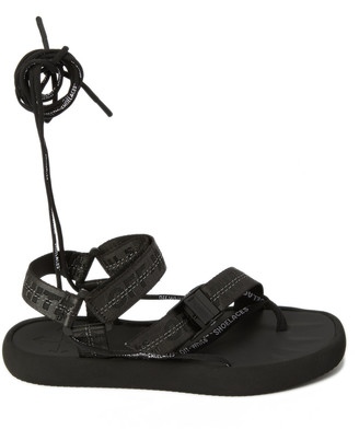 Off-White Tie-Detailed Woven And Rubber Sandals
