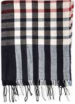 Wine Stripe Check Scarf