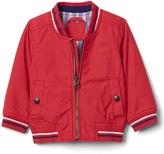 Gap Poplin varsity jacket