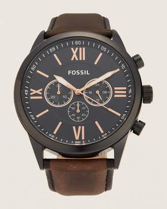 Fossil BQ2376 Flynn Chronograph Brown Leather Watch