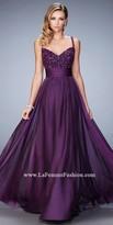 La Femme Marianne Embellished Empire Prom Dress
