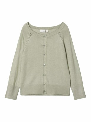 Name It Girl's Nmfvioni Ls Knit Card H Cardigan Sweater