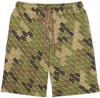 Burberry Camouflage Monogram Bermuda Shorts