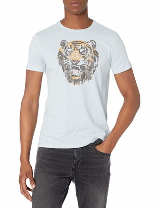 John Varvatos Men's Short Sleeve Crew Tee-Tiger Head
