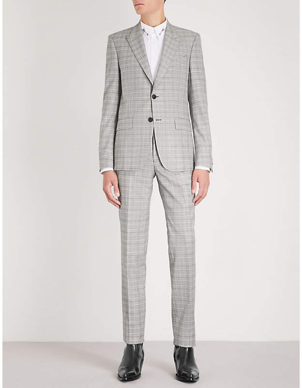 Givenchy Glittered slim-fit wool-blend suit