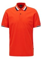 HUGO BOSS - Regular-fit polo shirt with color-blocking - Dark Blue