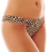 Flirtitude Ruched Microfiber Thong Panties