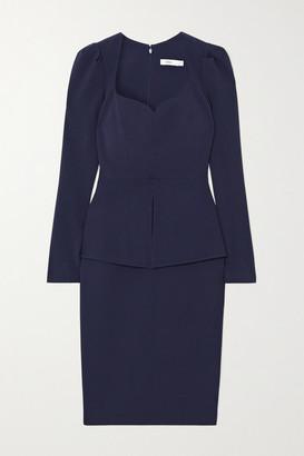 Safiyaa Kaleisha Belted Crepe Midi Dress - Navy
