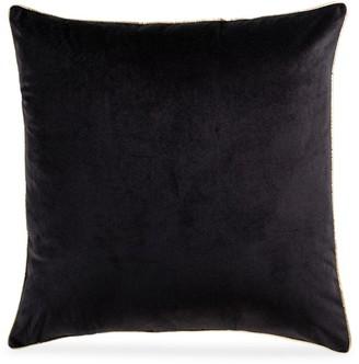 Callisto Home Noah Metallic Piped Velvet Pillow