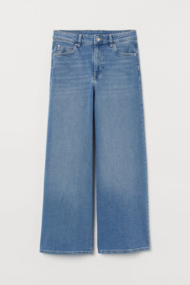 H&M Culotte High Ankle Jeans - Blue