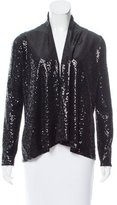 Alice + Olivia Sequined Open Front Cardigan