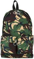 Off-White camouflage zip up backpack