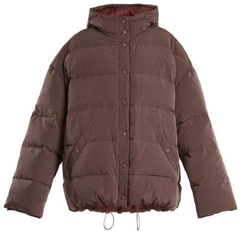 Raey Hooded quilted-down jacket