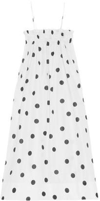 Ganni Polka Dot Midi Dress