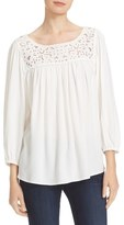 Joie Sagrada Eyelet Embroidered Blouse