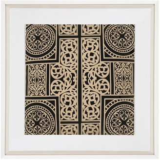 Bandhini Madrid Black Gold Fabric Artwork