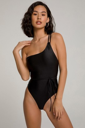 Good American Hot Shoulder One-Piece