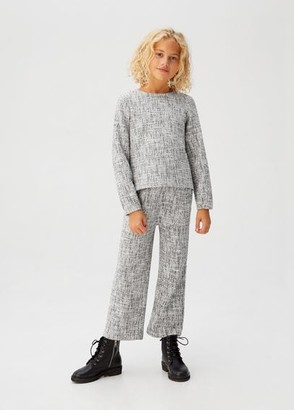 MANGO Flecked knit sweatshirt