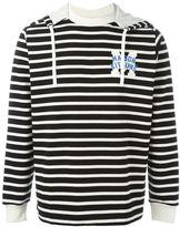 MAISON KITSUNÉ striped hoodie