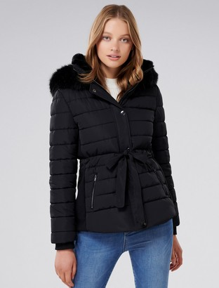 Ever New Autumn Cinched Puffer Jacket