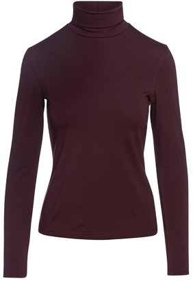 Maroon Turtle Neck Top By Conquista In Sustainable Fabric