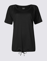 M&S Collection Tie Front Short Sleeve T-Shirt