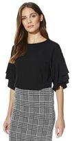 F&F Double Frill Sleeve Top, Women's