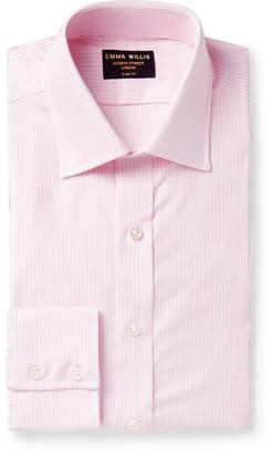 Emma Willis Slim-Fit Striped Cotton Oxford Shirt - Men - Pink