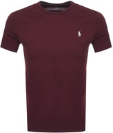 Ralph Lauren Custom Fit T Shirt Burgundy