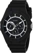 GUESS GUESS? Men's Quartz Rubber and Silicone Casual Watch, Color: (Model: U0942L2)