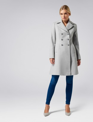 Forever New Dale Coat - Soft Grey - 4