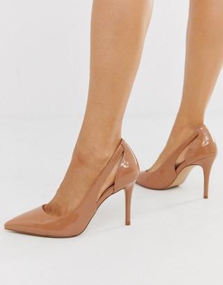 Carvela side cut out court shoe in beige