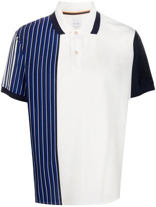 Paul Smith Striped Colour-Block Polo Shirt