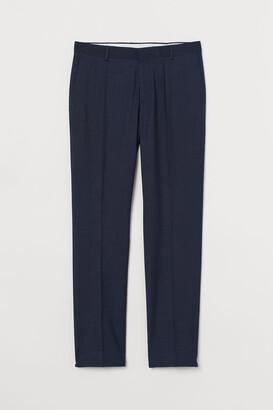 H&M Slim Fit Suit Pants - Blue